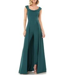 women's kay unger maxi romper, size 10 - green