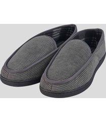zapatillas de descanso pana gris baziani