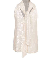 sequin sash neck tunic