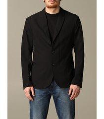 armani exchange blazer armani exchange single-breasted cotton jacket