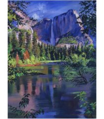 "david lloyd glover 'yosemite falls' canvas art - 18"" x 24"""