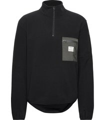 pullover recycled polyester sweat-shirts & hoodies fleeces & midlayers svart resteröds
