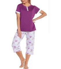 pijama capri morado baziani