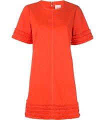 cinq a sept ashton frayed-trim dress - orange