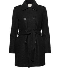 onlsansa wool coat cc otw wollen jas lange jas zwart only