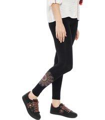 legging desigual negro - calce ajustado
