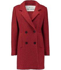 mantel wol rood