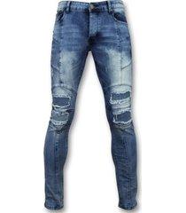 skinny jeans true rise skinny biker jeans - stoere jeans - zs1058 -