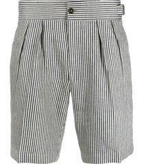 lardini vertical-stripe chino shorts - neutrals