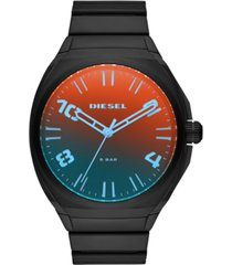 diesel men's stigg black stainless steel bracelet watch 48mm