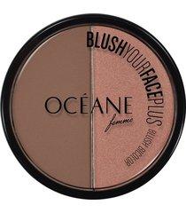 blush bicolor océane femme blush your face plus brown orange 9,3g