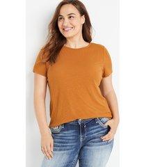 maurices plus size womens 24/7 gold rib knit tuck in tee