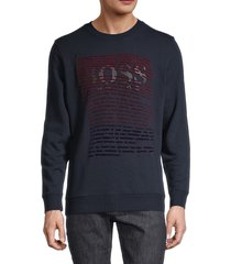 boss hugo boss men's graphic sweatshirt - navy - size l