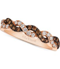 le vian chocolatier diamond braided band (3/8 ct. t.w.) in 14k rose gold