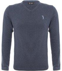 suéter aleatory warm gola v masculino