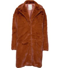 elissa fake fur jacket outerwear faux fur brun minus