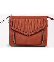 maurices womens laser cut crossbody bag orange