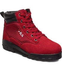 grunge ii mid wmn shoes boots ankle boots ankle boots flat heel röd fila