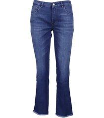 fay skynny lavato fondo frangia jeans