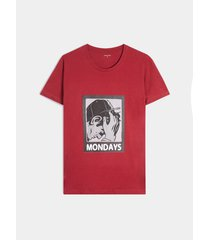 camiseta manga corta con screen ilustrado
