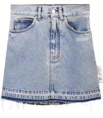 off-white denim skirt