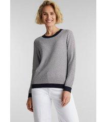 sweater mujer jacquard blanco invierno esprit