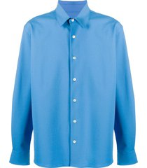 ami paris long-sleeve button-up shirt - blue