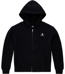 embroidered star chevron hoodie met ritssluiting