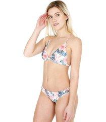 bikini triángulo estampado rosa h2o wear