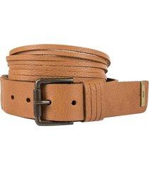 cinturón unifaz de cuero tiras