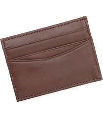 royce leather men's leather magnetic money clip wallet - brown