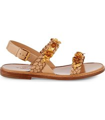 braided floral sandals