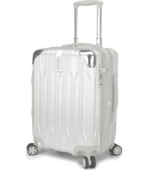 "traveler's choice bell weather expandable 20"" spinner suitcase"