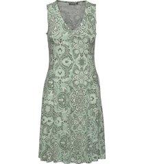 framdot 3 dress knälång klänning grön fransa