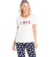 pijama capri estampado lovely