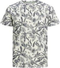 jack & jones men's organic all over printed crew neck tee shirt