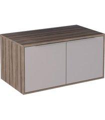 gabinete módulo suspenso para banheiro 80cm mdf arati tamarindo com nude 80x40x43,1cm - cozimax - cozimax