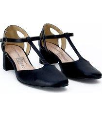 zapatos sandalia tacon negro 35