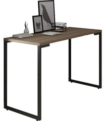 mesa para computador escrivaninha 120cm estilo industrial new port f02 castanho - mpozenato - marrom - dafiti