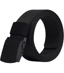 cinturón reata militar nylon hebilla hombre color negro