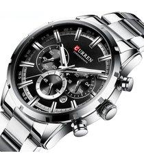 reloj hombre metalico lujo curren cronometro deportivo