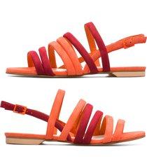 camper twins, sandalias mujer, naranja/rojo, talla 41 (eu), k200800-001