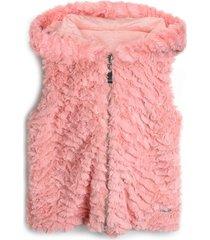 colete colorittá infantil liso rosa - tricae