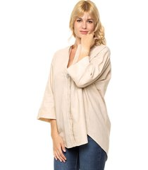 blusa beige donadonna
