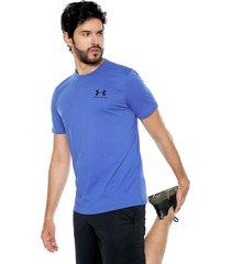 camiseta azul under armour versa