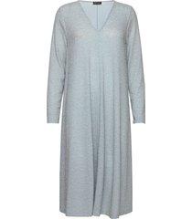 lauren, 913 glitter jersey jurk knielengte blauw stine goya