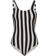 swimsuit rana big stripes baddräkt badkläder vit dedicated