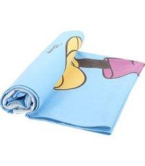 mc2 saint barth mickey print aidan beach towel in light blue