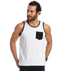 camiseta vlcs regata gola redonda branca