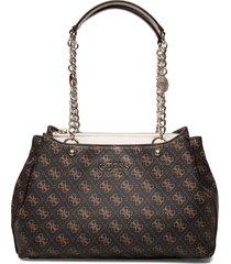 lorenna girlfriend satchel bags top handle bags brun guess